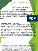 The Word Study Method