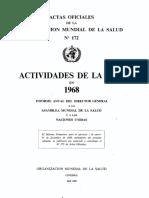 Relatório de atividades OMS 1968