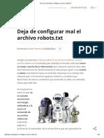 Errores y Soluciones Al Configurar El Archivo Robots