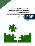 Exner, John - Manual de Codificacion de Rorschach Para El Sistema Comprehensivo (1)