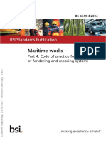 BS 6349-4 2014 Maritime Works Code for Design of Fendering and Mooring Systems