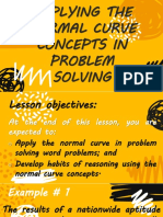 Applying the Normal Curve Concepts in Problem Solving Salili Statistics