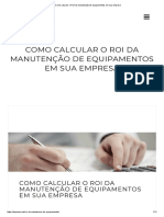 Como calcular o ROI da manutenção de equipamentos em sua empresa