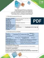 Tarea 2 Guía de Actividades y Rúbrica de Evaluación - Diseño de Un Proyecto de Zoocriadero Para Una Especie Determinada