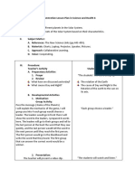 Demonstration Lesson Plan in Science and Health 6