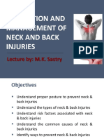 Prevention and Management of Neck and Back Injuries