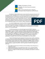 position paper UNDP sweden