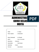 Administrasi Guru Kelas 3 MDT