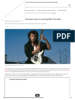 The Secrets Behind Joe Satriani's Tone on Surfing With the Alien