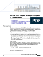 Recover From Corrupt or Missing File Image or in Rommon Mode