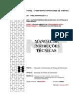 Copel - Operação de Chaves Fusíveis, Seccionadoras, Seccionalizadores, Grampos de Linha Viva e Religadores Monofásicos