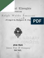 Beautiful Thoughts-Ralph Waldo Emerson