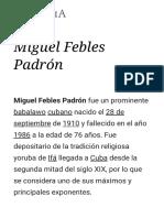 Miguel Febles Padrón - Wikipedia, La Enciclopedia Libre