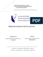 Vis Moot Claimant Memorial Singapore Management University