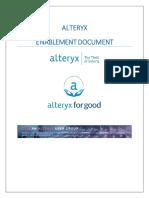 Master Enablement Plan Alteryx
