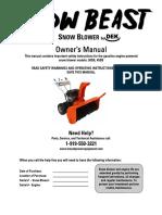 Snow Beast Owner's Manual 19Nov2010