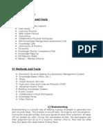 Km Tools Methods