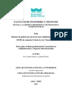 Minimizar costos con la gestion pór procesos aplicado a una empresa Peru
