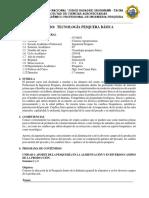 Silabo Tecnologia Pesquera Basica - 2019