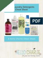 Best laundry detergent cheat sheet