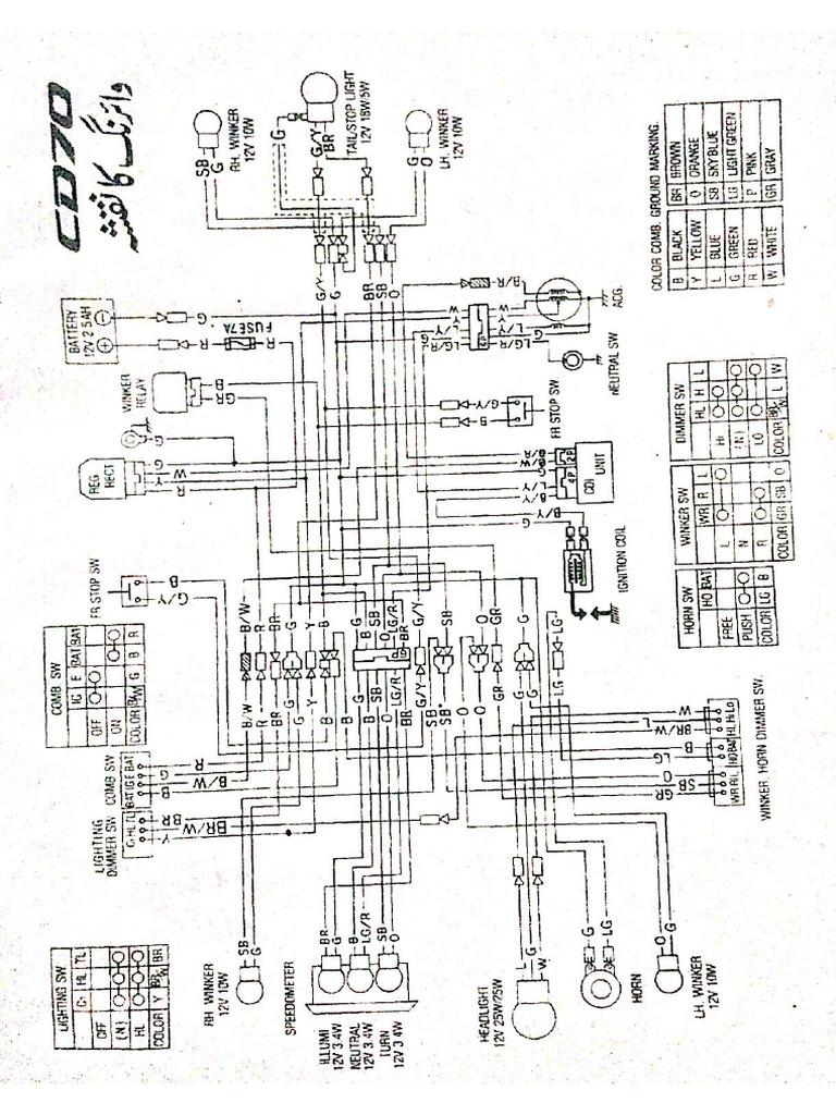 Honda Cd 70 Wiring Diagram