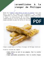 Crepes Caramelisees a La Fleur Doranger de Philippe Conticini 2
