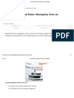 Specific Gravity and Water Absorption Tests on Aggregates