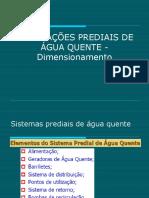 Instalações Prediais de Água Quente - Dimensionamento