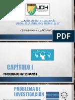 Estrés laboral y desempeño laboral TESIS 2, Cesar Suarez ppt