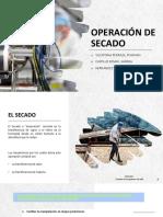 Operación de Secado Operaciones Unitarias