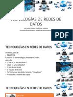Tecnologias Redes de Datos 2019 2