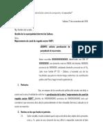 Solicitud Para La Municipalidad - Suspension de Obra.