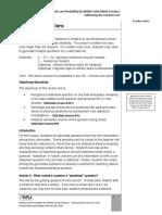 F2 Togliatti Statistical Questions