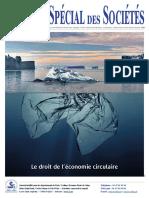 JSS n°86 spécial Droit de l'économie circulaire décembre 2018