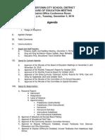 Watertown City School District Board of Education agenda Dec. 3, 2019