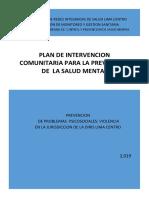 Plan de Intervencion Comunitaria de Salud Mental