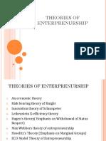 Theories of Enterprenurship