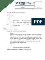 Exam Time Zones 1A Unit 1-3 Tercero