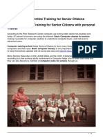 Computer online training for senior citizen