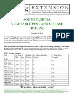 South Florida vegetable Pest and Disease Hotline for November 27, 2019