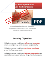 8-Privacy and Confidentiality - Blok 3.1