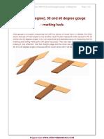 Mitre 45 30 and 60 Degree Gauge Plan