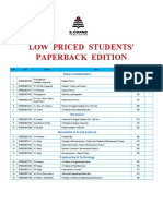 Low Price Student Paperback Edition