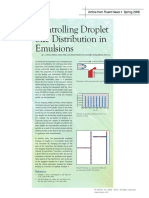 Controlling Droplet Size Distribution in Emulsions - Article - Fluent News - V15 I1 2006