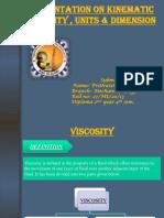 Kinematic Viscosity , Units & Dimension