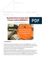 Bharatiya Reserve Bank Note Mudran Private Limited (BRBNMPL) - Facts _ Bank Exams Today