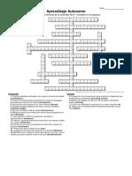 Crucigrama Aprendizaje Autonomo