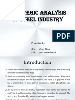 Research Project on steel industry