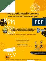 Unidad III. Productividad Humana