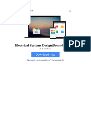 Electrical Systems Designsecond Edition By M K Giridharan 9384588393 Pdf Design E Books